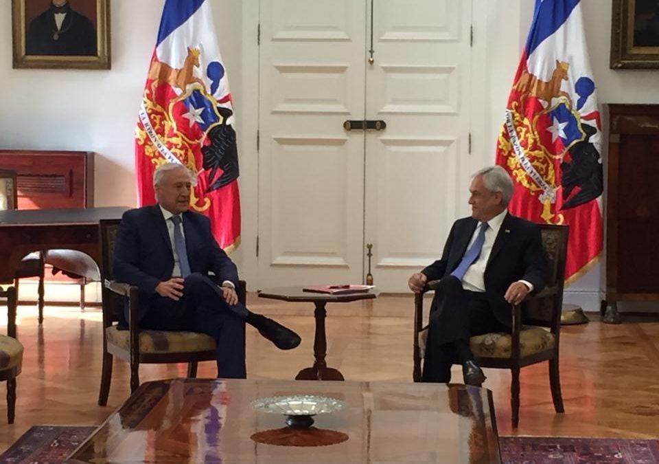 """Heraldo Muñoz tras reunión con el Presidente Piñera: """"Hay voluntad de dialogar"""""""
