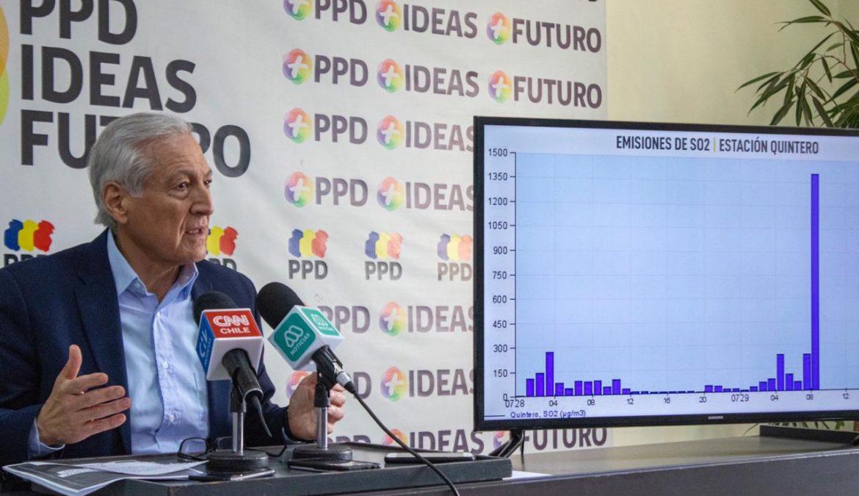 """Heraldo Muñoz critica manejo en contaminación en Quintero: """"Esto es inaceptable"""""""