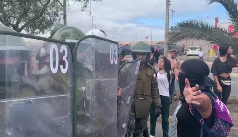 Mujeres PPD de Arica y Parinacota rechazan represión policial ad portas del 8M