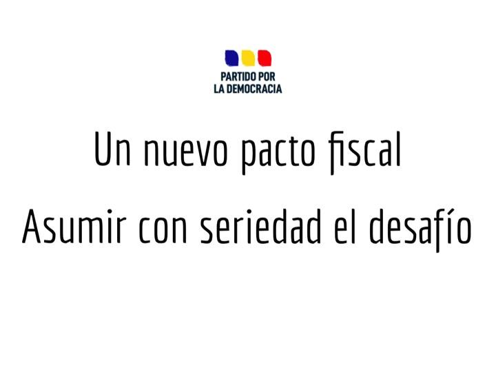"""PPD propone crear comité de expertos para una reforma tributaria y """"nuevo pacto fiscal"""" que permita hacer frente a la crisis"""