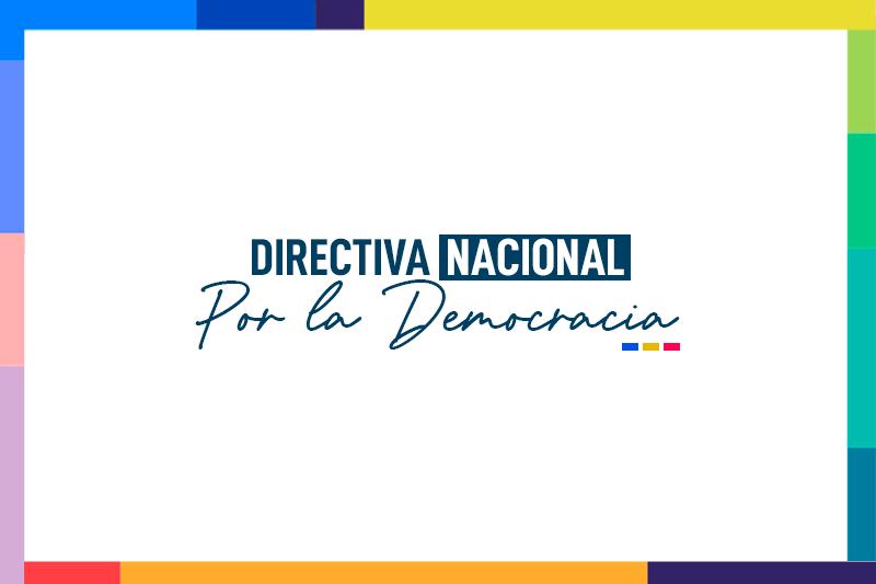 Citación Directiva Nacional Por la Democracia: Mayo 2021