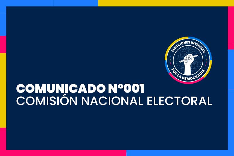 Constitución y primer comunicado de la Comisión Nacional Electoral   Elecciones Internas 2021
